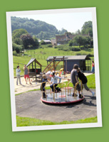 The Bournstream Trust, an outdoor adventure play area for children with special needs in Wooten Under Edge, Gloucestershire, Uk